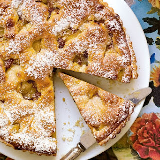 Crostata Di Mele (apple Tart) With Mascarpone Custard.