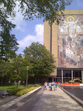Photo: Jesus mural, Notre Dame campus, South Bend IN YRE