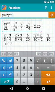 Fraction Calculator + Math PRO Screenshot