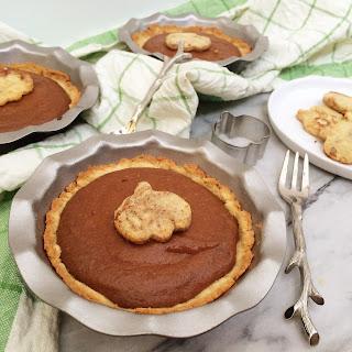 Mini Low Carb Peanut Butter Pumpkin Pies