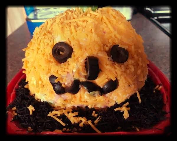 Jack O Lantern Cheese Ball Recipe