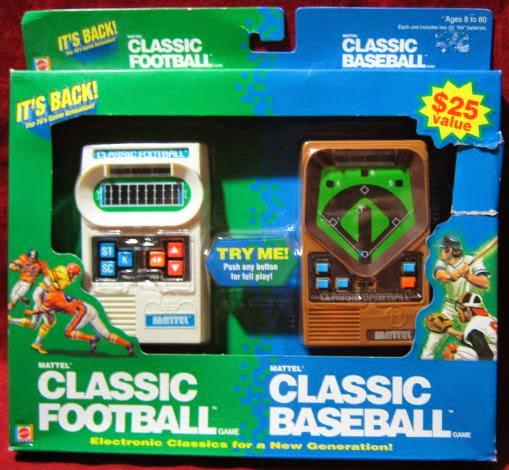 Dos de los populares juegos electrónicos portables de Mattel.