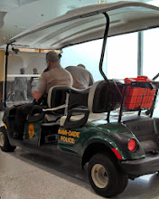 Photo: Day 0: This is the Miami-Dade Police in the Miami International Airport. All I could think of was CSI Miami.