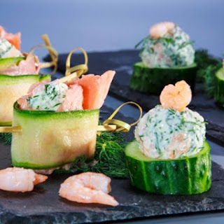 Cucumber Rolls With Smoked Salmon