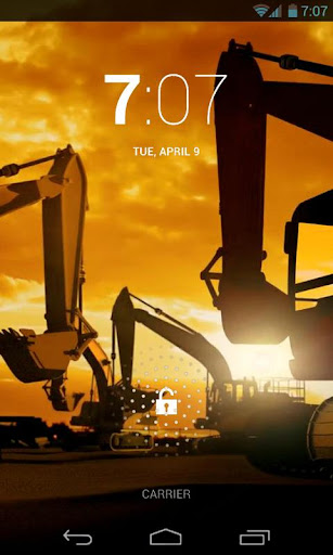 Sunset Excavator Live Wallpap