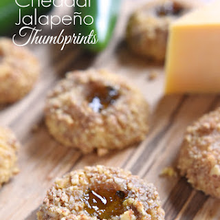 Cheddar Jalapeño Thumbprints.