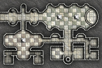 Photo: Here's a little dungeon map that I created a few weeks back that I thought I'd share...