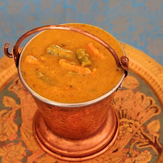 Huli/South Indian Dal with Vegetables.