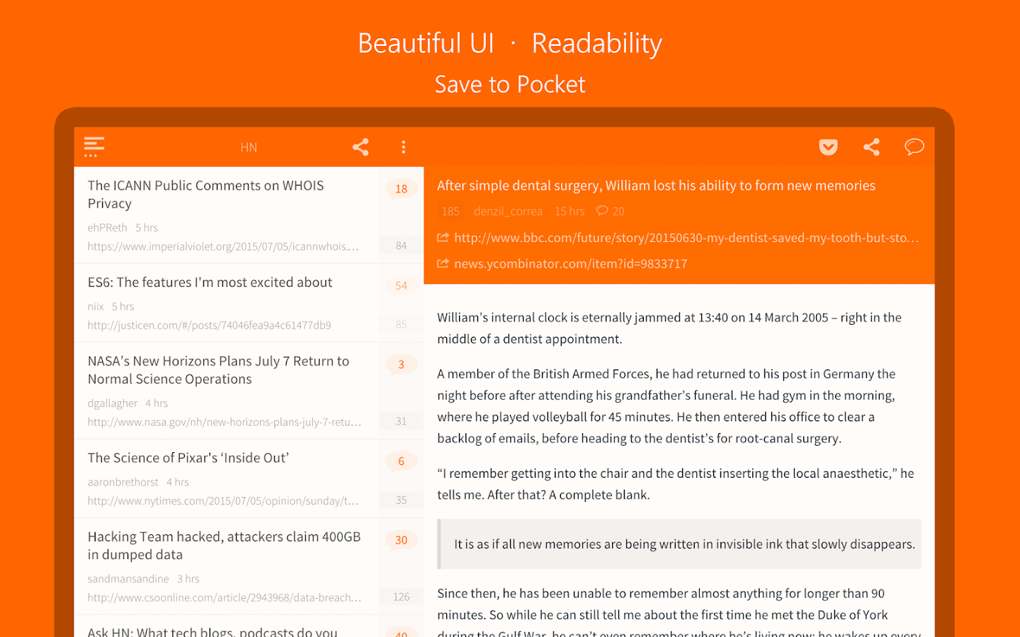 Hacker News (YC)- screenshot