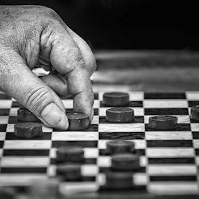 by Vijay Tripathi - People Body Parts ( checkerboard, life )