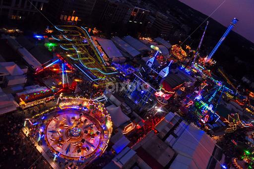 Schueberfouer In The Blue Hour | Amusement Parks | City, Street