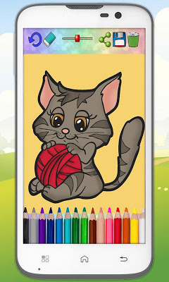 Coloring cats and kittens - screenshot