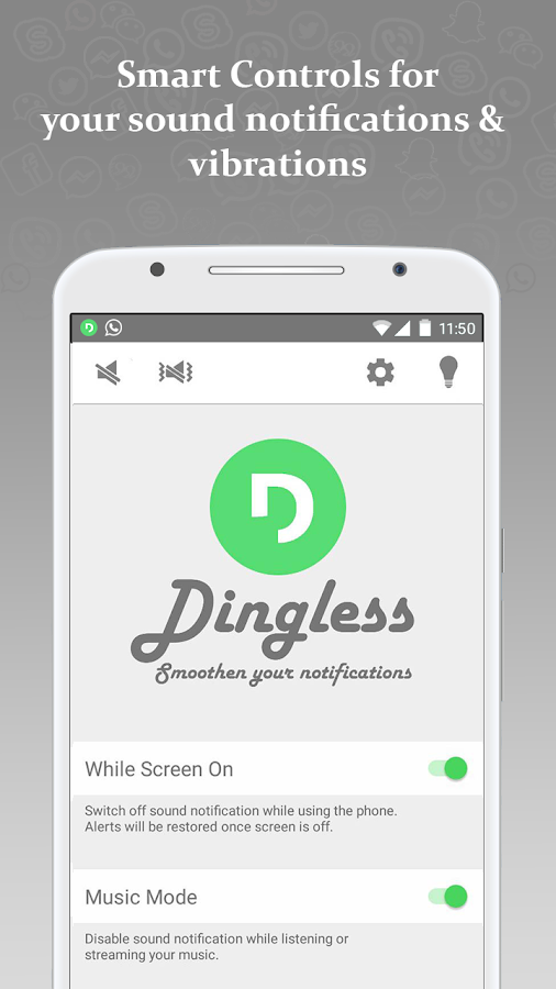 Dingless - Notification Sounds- screenshot