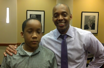 Photo: I caught Jihad w/ his eyes half-closed but oh well! Here he is with Dr. Khalil Gibran Muhammad, Director of the Schomburg Center for Research in Black Culture