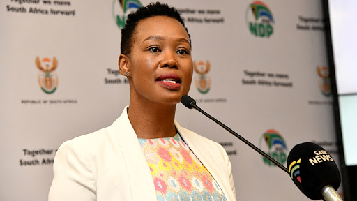 Minister of communications and digital technologies Stella Ndabeni-Abrahams.