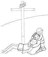 Photo: jesús muerto con su madre