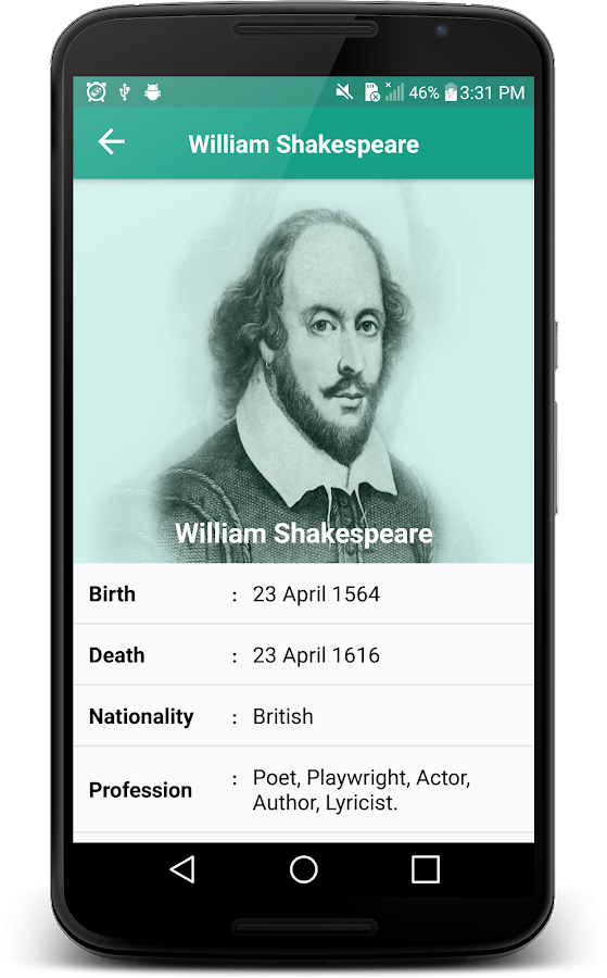 Citaten Shakespeare Android : William shakespeare famous quality quotes android apps