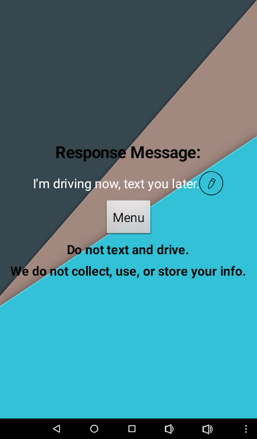 No Texting While Driving- screenshot