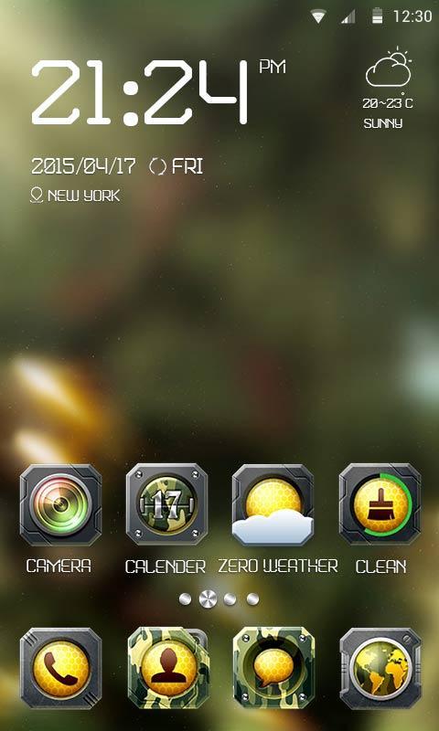 Скриншот Camo Theme - ZERO Launcher