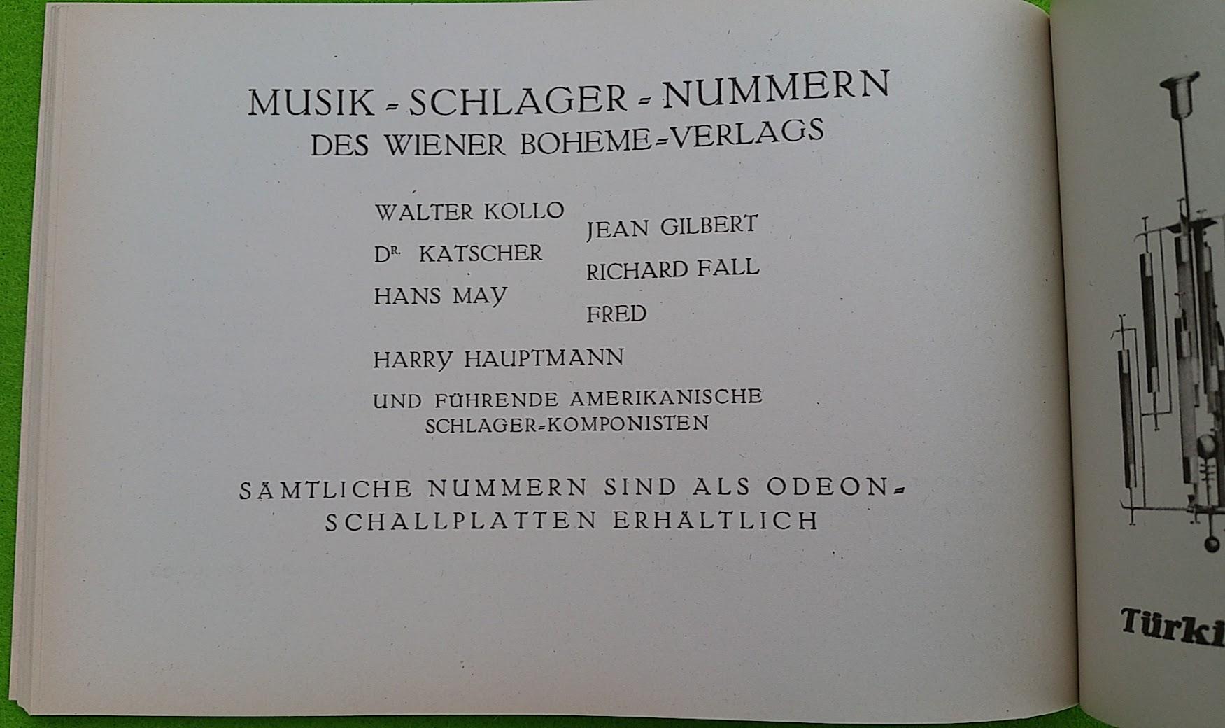 Begleitheft zur Eröffnung von Haus Vaterland am Potsdamer Platz, Berlin, 31. August 1928
