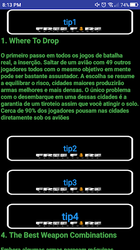 Free Fire Guide - Battleground Game hack tool