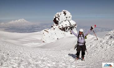 Photo: Yes! I am here at Koryaksky - volcano Zhupanovsky on the left far away