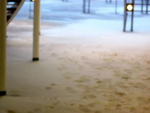Photo: YUP! Snow on deck!