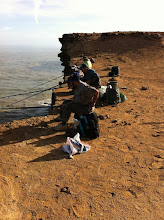 Photo: Fishing for Meagre and Seabream from the cliffs