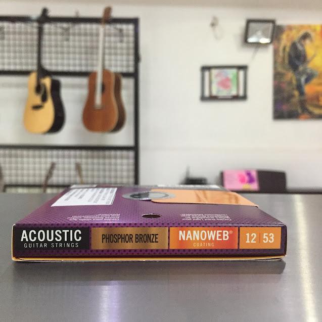 Dây Đàn Guitar Acoustic - Elixir Nanoweb Phosphor Bronze 16052