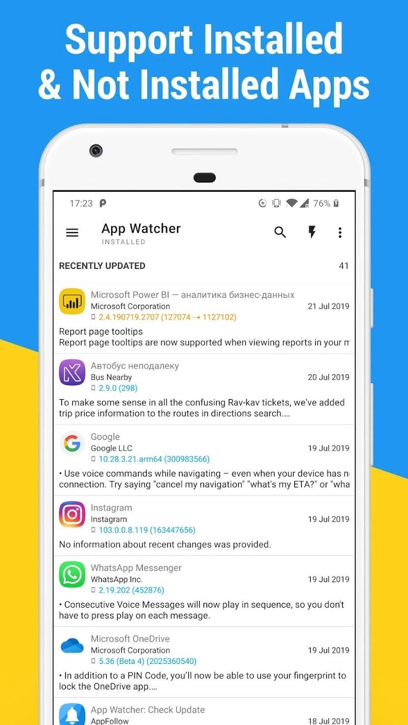App Watcher: Check Update Screenshot 2
