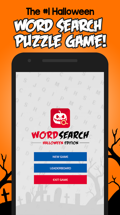 halloween word search puzzle screenshot - Halloween Word Game