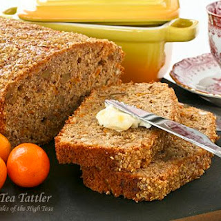 Spiced Kumquat Nut Bread with Gold Shimmer.