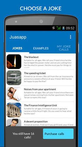 Juasapp - Joke Calls Android App Screenshot