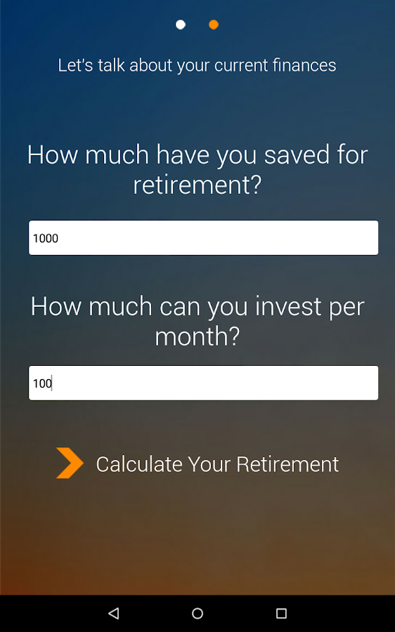 Wealth Calculator- screenshot