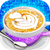 Glitter Coffee - Make The Most Trendy Food Apk Download Free for PC, smart TV