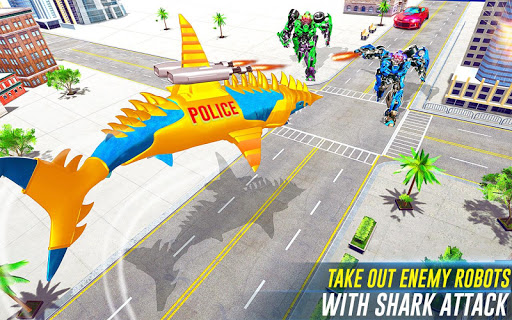Robot Shark Attack: Transform Robot Shark Games screenshots 5