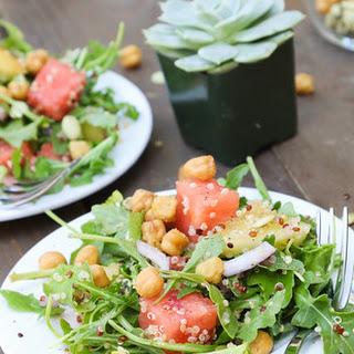 Picnic in the Park Watermelon Arugula Salad with Watermelon Vinaigrette