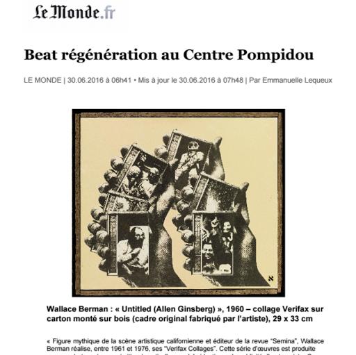 Beat régénération au Centre Pompidou