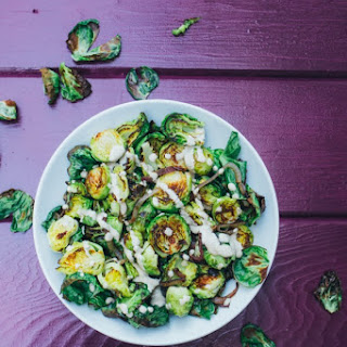 Roasted Brussel Sprouts with Tahini Ranch
