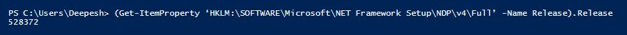 The above PowerShell version is 5.1
