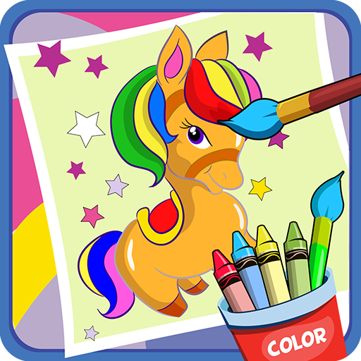 Pony coloring game Icon