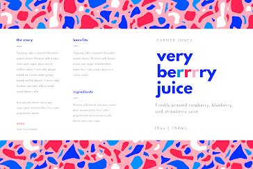 Very Berry Juice - Label template