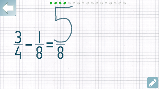Subtract Fractions Trainer Screenshot