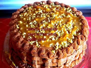 JAMIE'S CHOCOLATE COVERED CARAMEL APPLE CAKE