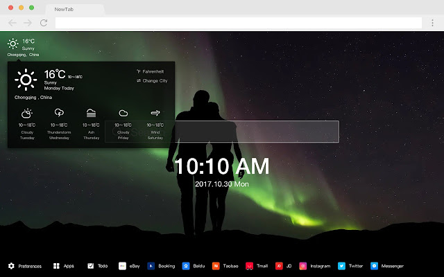Northern Lights HD Popular New Tab Themes