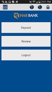 HAB  Remote Deposit screenshot 1