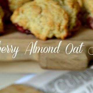 Raspberry Almond Oat Scones