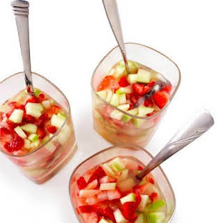 Apple-Strawberry Sangria.