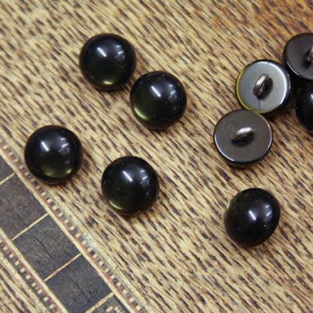Halvklot Knapp 11mm - mörkgrön