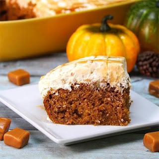 Pumpkin Caramel Cream Cheese Poke Cake Is The Perfect Dessert For Fall!